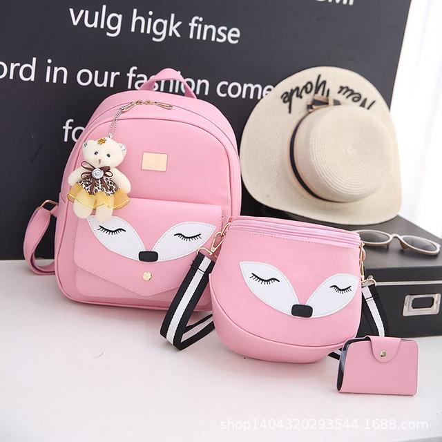 Набор рюкзак и сумочка Лисичка розовый