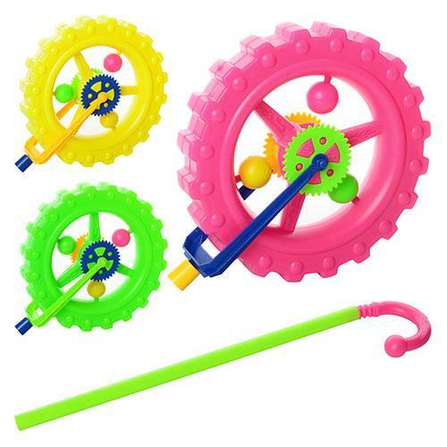 🔥✅ Детская игрушка каталка Колесо L1801-3 трещотка на палочке