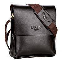 Мужская наплечная кожаная сумка Polo Videng