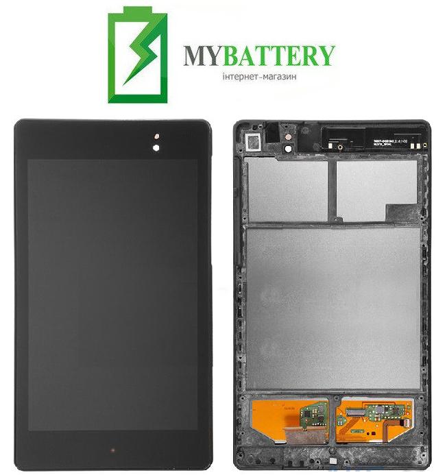 Дисплей (LCD) Asus ME571K Google Nexus 7 NEW с сенсором чёрный (2 поколение 2013) 3G + рамка