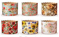 """Паперові форми для випічки 1000г """"Квіти"""" 180*110мм (1/300)"""