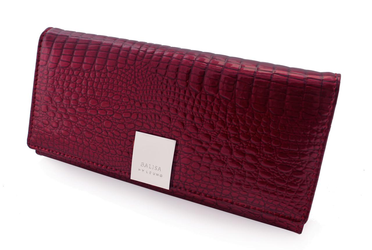 299736666c54 Женский кожаный кошелек BALISA, бордовый лак. В наличии. 770 грн. Купить