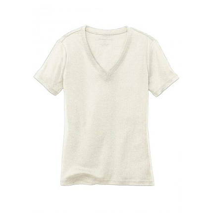 Женская футболка Eddie Bauer Womens Basic T-Shirt V-Neck IVORY (S), фото 2
