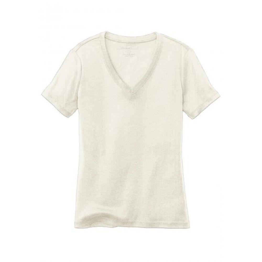 Женская футболка Eddie Bauer Womens Basic T-Shirt V-Neck IVORY (S)