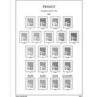 Листы Leuchtturm, иллюстрированные для марок Франция 1945-1959 гг.