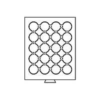 Бокс Leuchtturm для монет (диаметр ячейки 44 мм), для 10 грн. НБУ серебро