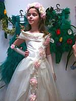 Карнавальный костюм весна в розовом, веснянка прокат Киев