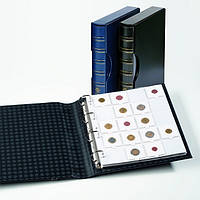 Альбом Leuchtturm, GRANDE для монет в холдерах на 200 монет, с футляром, синий