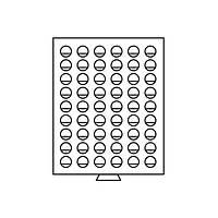 Бокс Leuchtturm для монет (диаметр ячейки 25,75 мм)