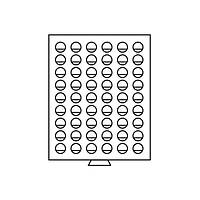MB54R/25 Бокс для монет 54 ячейки (диаметр ячейки 25,75 мм )