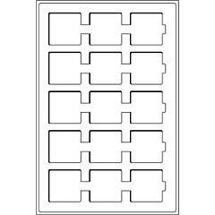 TAB15DBL Лоток для монет (ячейка 50*50) для холдеров с прозрачной защитной крышкой