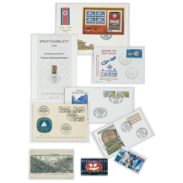 Защитные обложки для новых открыток, 155*110 мм,, Lindner