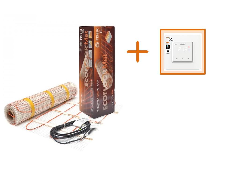 Нагревательный мат Fenix LDTS 121800-165 / 22 м / 11 м² / 1800 Вт + Wi-Fi регулятор Terneo SX