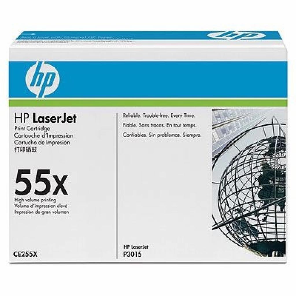 Картридж HP LJ  55X P3015 series black (max) (CE255X)