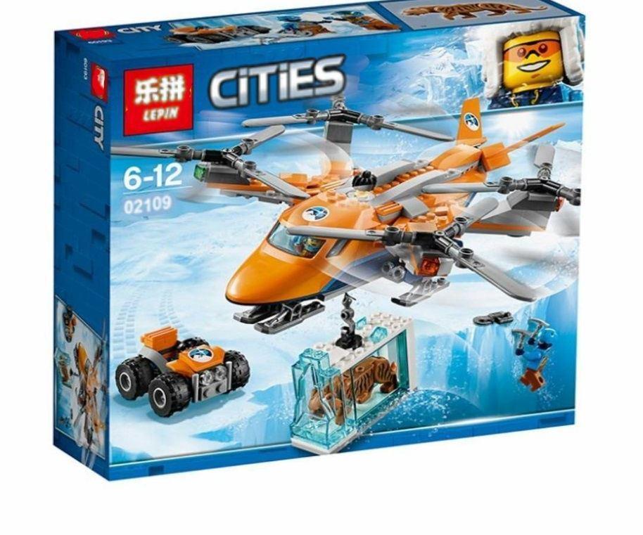 Конструктор Lepin 02109 City Арктическая экспедиция: Арктический вертолёт 310 деталей