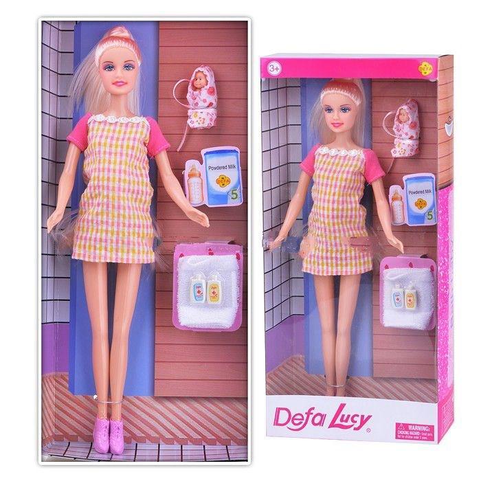 Кукла Defa Lucy беременная куколка Дефа Люси c младенцем 8357