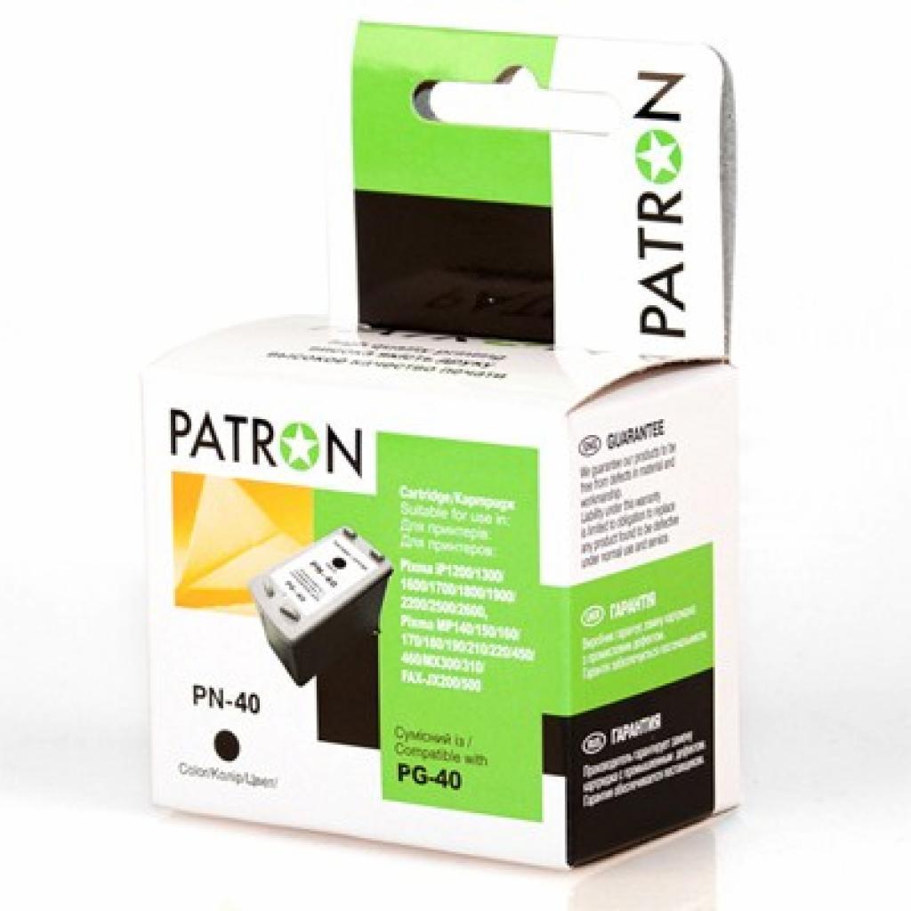Картридж PATRON CANON PG-40Bk BLACK (CI-CAN-PG-40-B-PN)