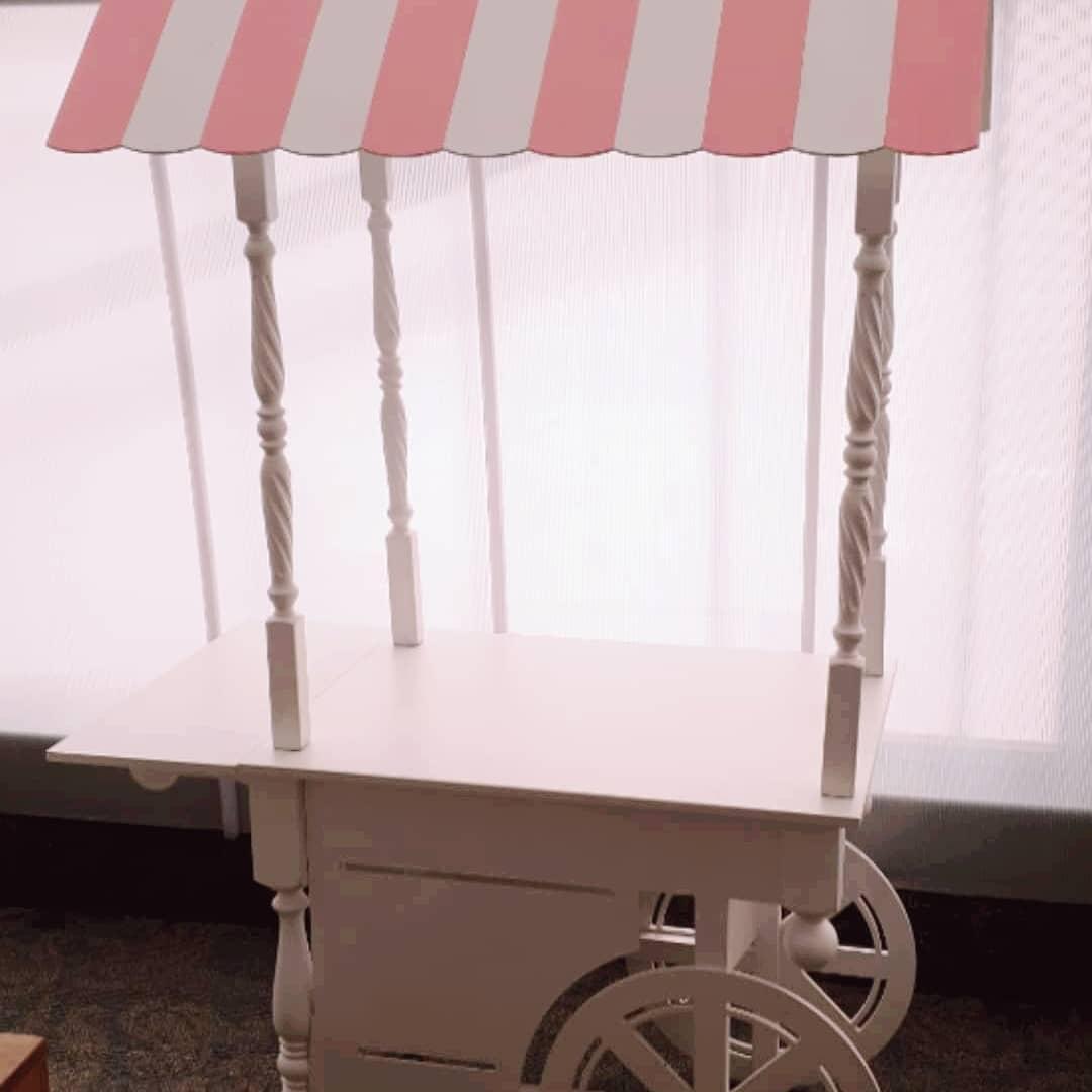 """Тележка деревянная для Кенди бар (Candy bar) в стиле """"Прованс"""""""