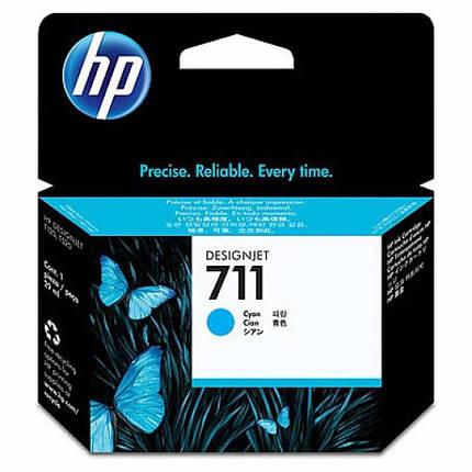 Картридж HP DJ No.711 DesignJet 120/520 Cyan (CZ130A), фото 2