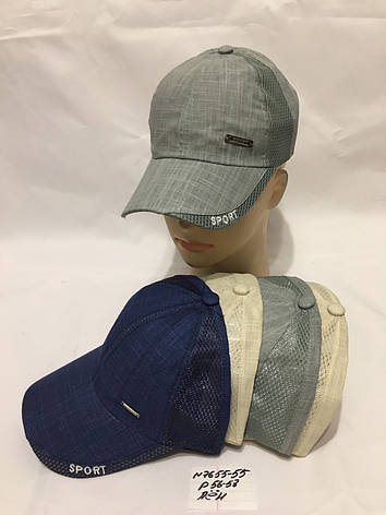 Річна підліткова кепка для хлопчика р. 56-58 льон, фото 2
