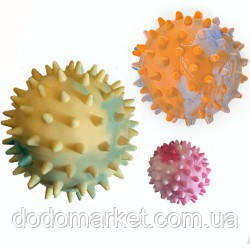 Ароматизированный мяч с шипами игрушка для собак 7,5 см №4