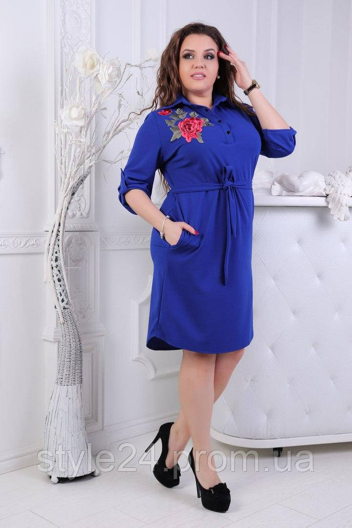 ЖІноче батальне плаття рубашка з трояндами .Р-ри 50-54