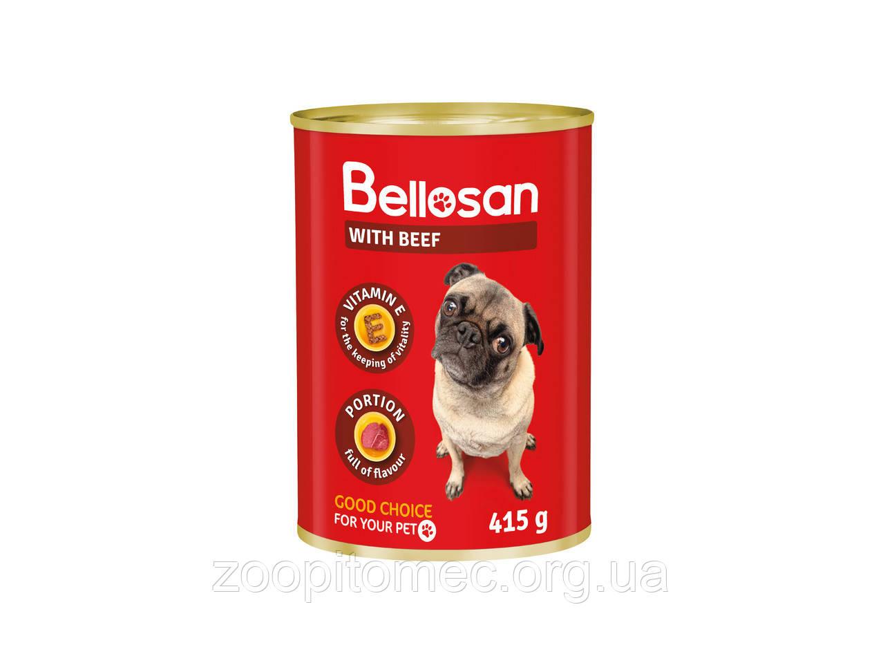 Консерва для собак BELLOSAN WITH BEEF с говядиной, 1.25 кг Польша