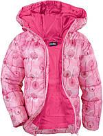 Куртка весенняя розовая одуванчики р.110