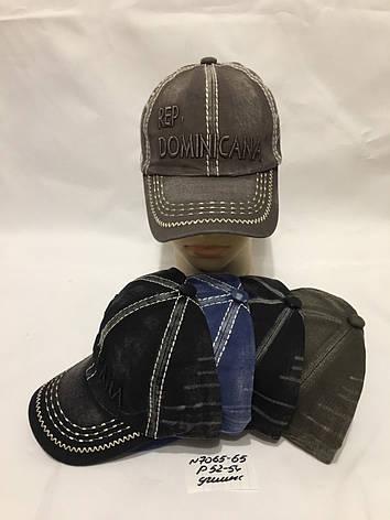 Дитяча кепка літня для хлопчика р. 52-54 джинс, фото 2