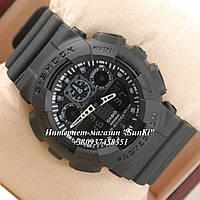 Неубиваемые спортивные наручные часы Casio G-shock GA-100 разных цветов Черный Черный Черный