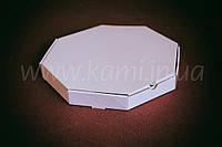 Коробка для піци 32*32 восьмикутна біла