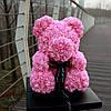 Уникальный мишка из 3d роз Happy Teddy 40 см розовый в подарочной коробке , фото 3