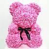 Уникальный мишка из 3d роз Happy Teddy 40 см розовый в подарочной коробке , фото 5
