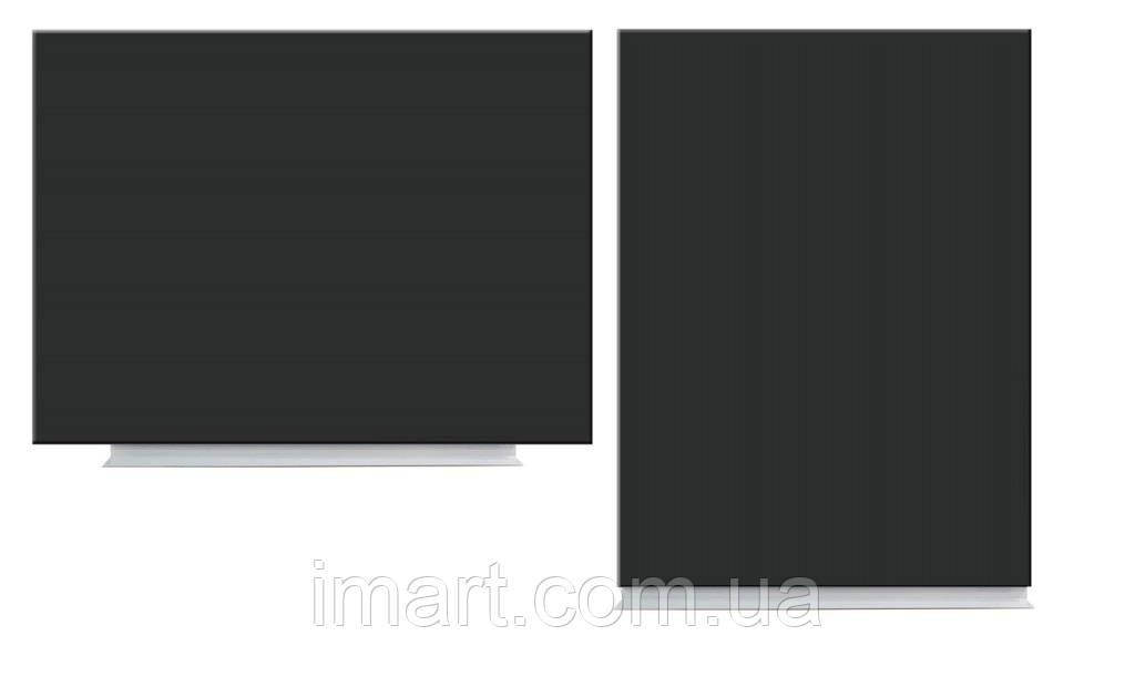 Меловая доска магнитная 100х75 см безрамная тонкая. Крейдяна грифельна магнітна дошка