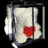 Уникальный мишка из 3d роз Happy Teddy 40 см белый в подарочной коробке , фото 5