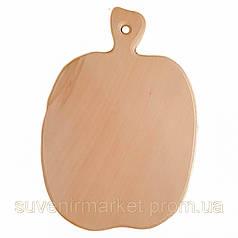Доска разделочная деревянная Яблоко| кухонная | заготовка для декупажа |под покраску| для росписи | 36х25 см