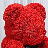 Уникальный мишка из 3d роз Happy Teddy 40 см красный с сердцем в подарочной коробке , фото 4