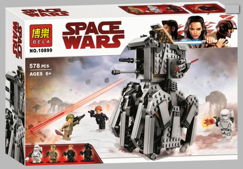 Конструктор Bela 10899 Star Wars Тяжелый разведывательный шагоход Первого Ордена 578 дет