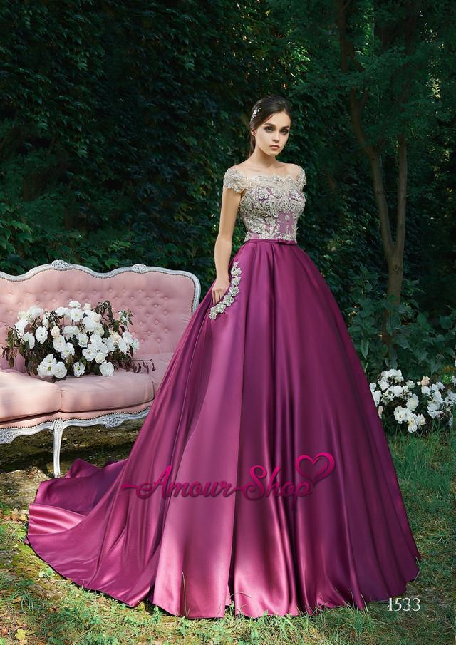 Атласное вечернее выпускное платье под заказ