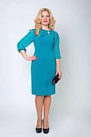 Деловое женское платье с шифоновыми рукавами, фото 1