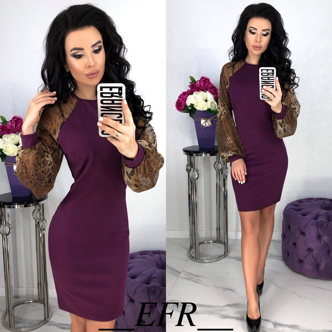 Обворожительное облегающее женское платье 42-46р.(3расцв.)