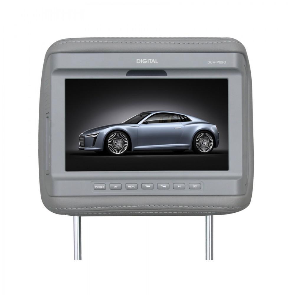 Подголовник с монитором Digital DCA-P09 G серый