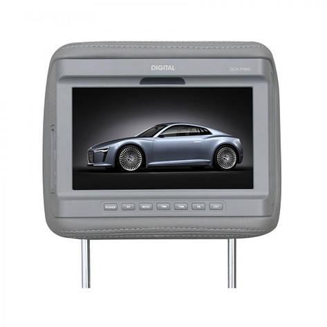 Подголовник с монитором Digital DCA-P09 G серый, фото 2