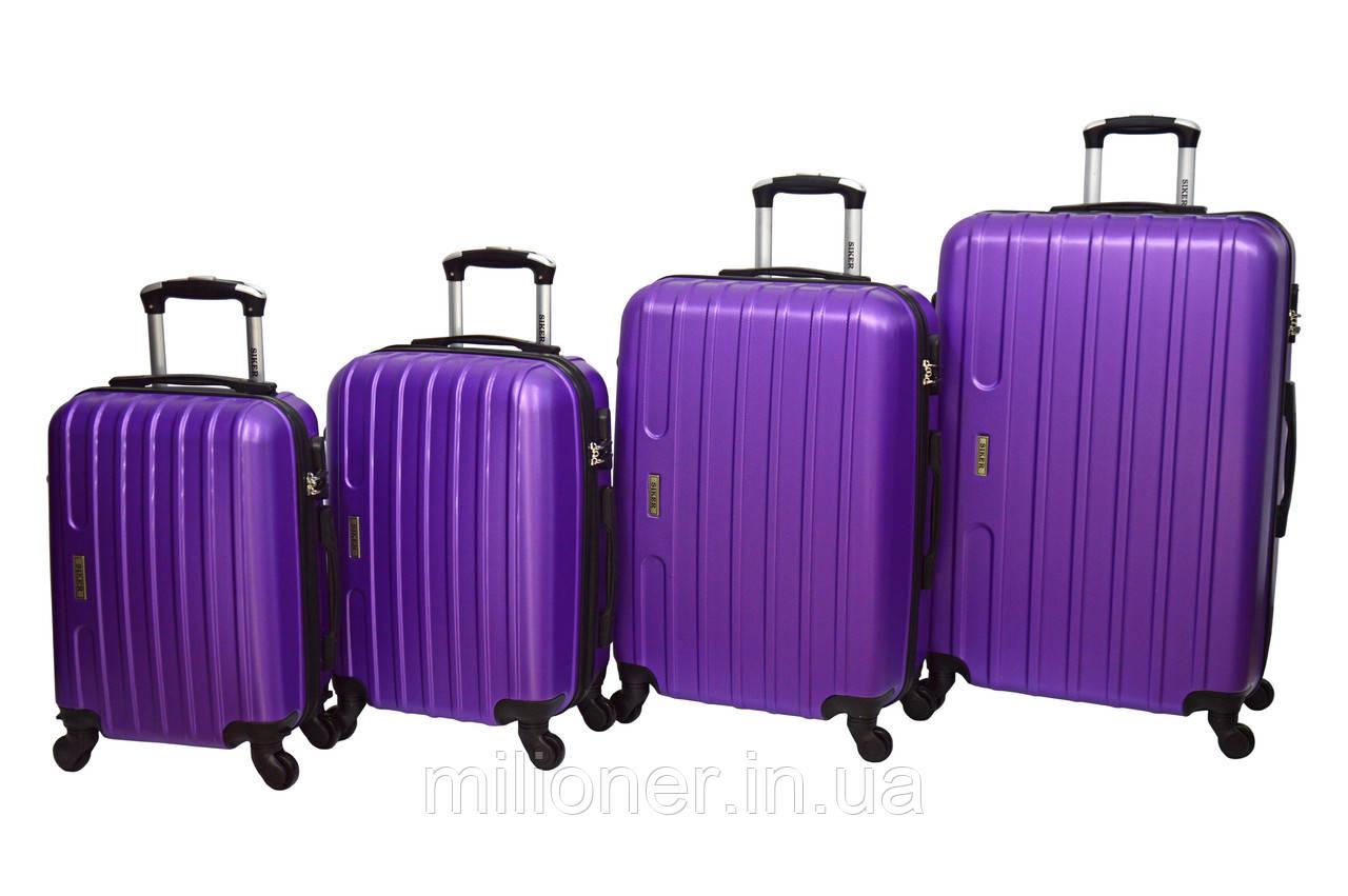 Чемодан Siker Line набор 4 шт. фиолетовый