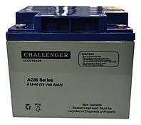 Аккумулятор мультигелевый Challenger A12-40 12V 40AH, (AGM) для ИБП, фото 1