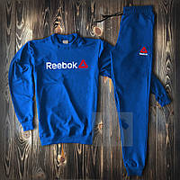 Спортивный костюм Рибок синий с красным логотипом, фото 1