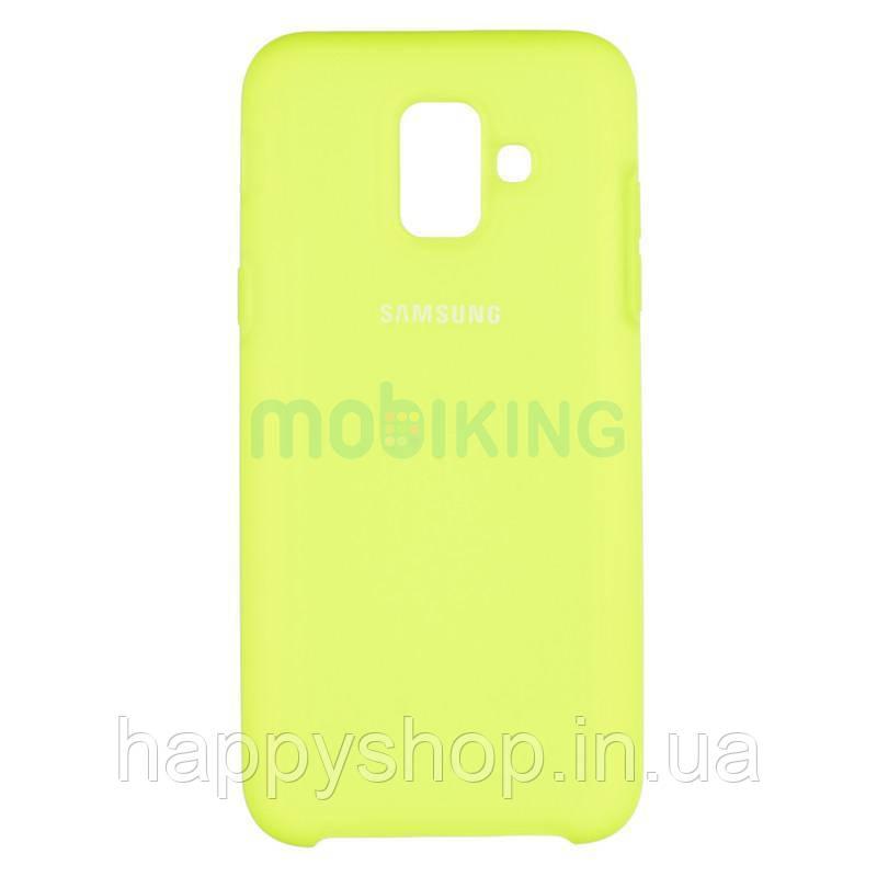 Оригинальный чехол Soft touch для Samsung Galaxy A6 2018 (A600) Lime