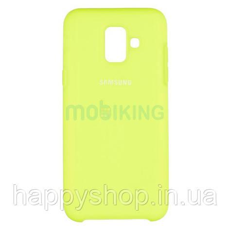 Оригинальный чехол Soft touch для Samsung Galaxy A6 2018 (A600) Lime, фото 2