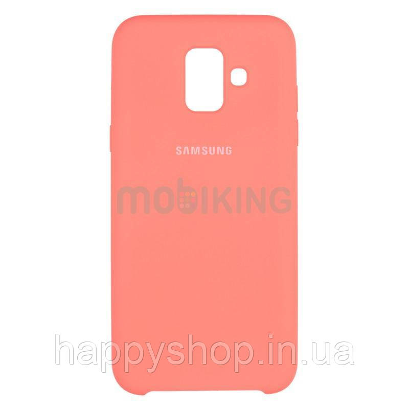 Оригинальный чехол Soft touch для Samsung Galaxy A6 2018 (A600) Pink