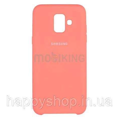Оригинальный чехол Soft touch для Samsung Galaxy A6 2018 (A600) Pink, фото 2